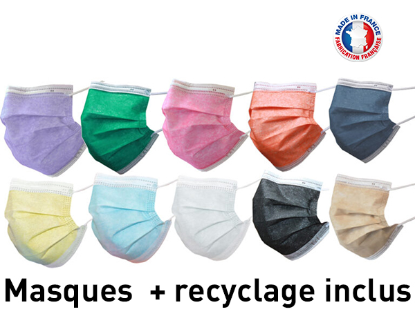 Masques type II + recyclage inclus